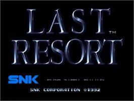 Title screen of Last Resort on the SNK Neo-Geo CD.
