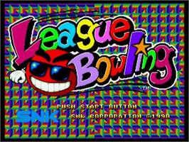 Title screen of League Bowling on the SNK Neo-Geo CD.