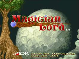 Title screen of Magician Lord on the SNK Neo-Geo CD.