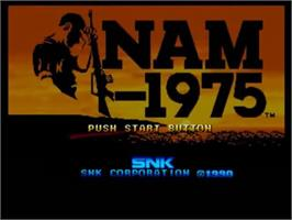 Title screen of NAM-1975 on the SNK Neo-Geo CD.
