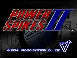 Title screen of Power Spikes II on the SNK Neo-Geo CD.