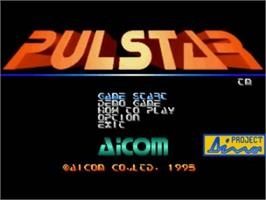 Title screen of Pulstar on the SNK Neo-Geo CD.