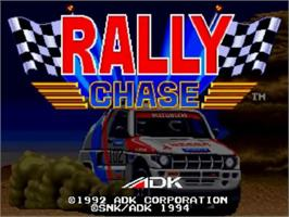 Title screen of Rally Chase on the SNK Neo-Geo CD.