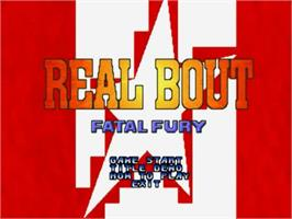 Title screen of Real Bout Fatal Fury on the SNK Neo-Geo CD.