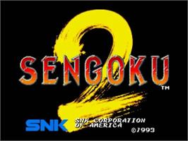Title screen of Sengoku 2 on the SNK Neo-Geo CD.