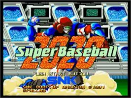 Title screen of Super Baseball 2020 on the SNK Neo-Geo CD.