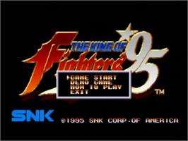 Title screen of The King of Fighters '95 on the SNK Neo-Geo CD.