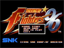 Title screen of The King of Fighters '96 on the SNK Neo-Geo CD.