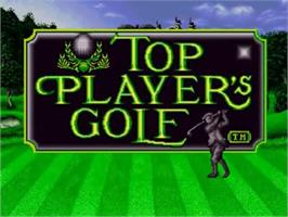 Title screen of Top Player's Golf on the SNK Neo-Geo CD.