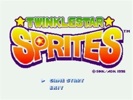Title screen of Twinkle Star Sprites on the SNK Neo-Geo CD.