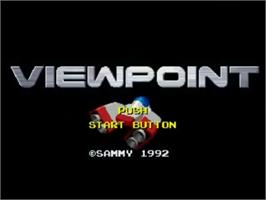 Title screen of Viewpoint on the SNK Neo-Geo CD.