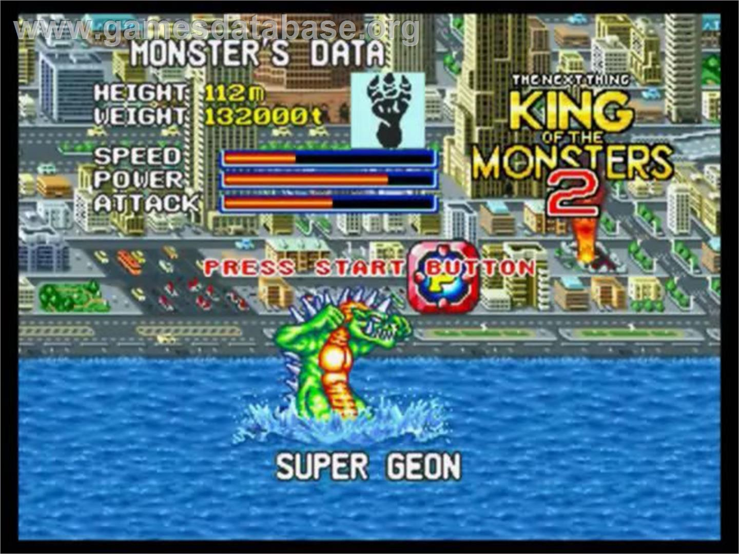 of King of the Monsters 2: The Next Thing on the SNK Neo-Geo CD