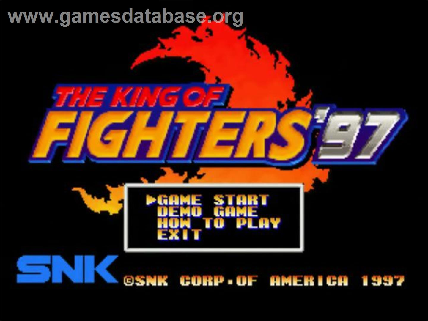 The King of Fighters '97 - SNK Neo-Geo CD - Artwork - Title Screen