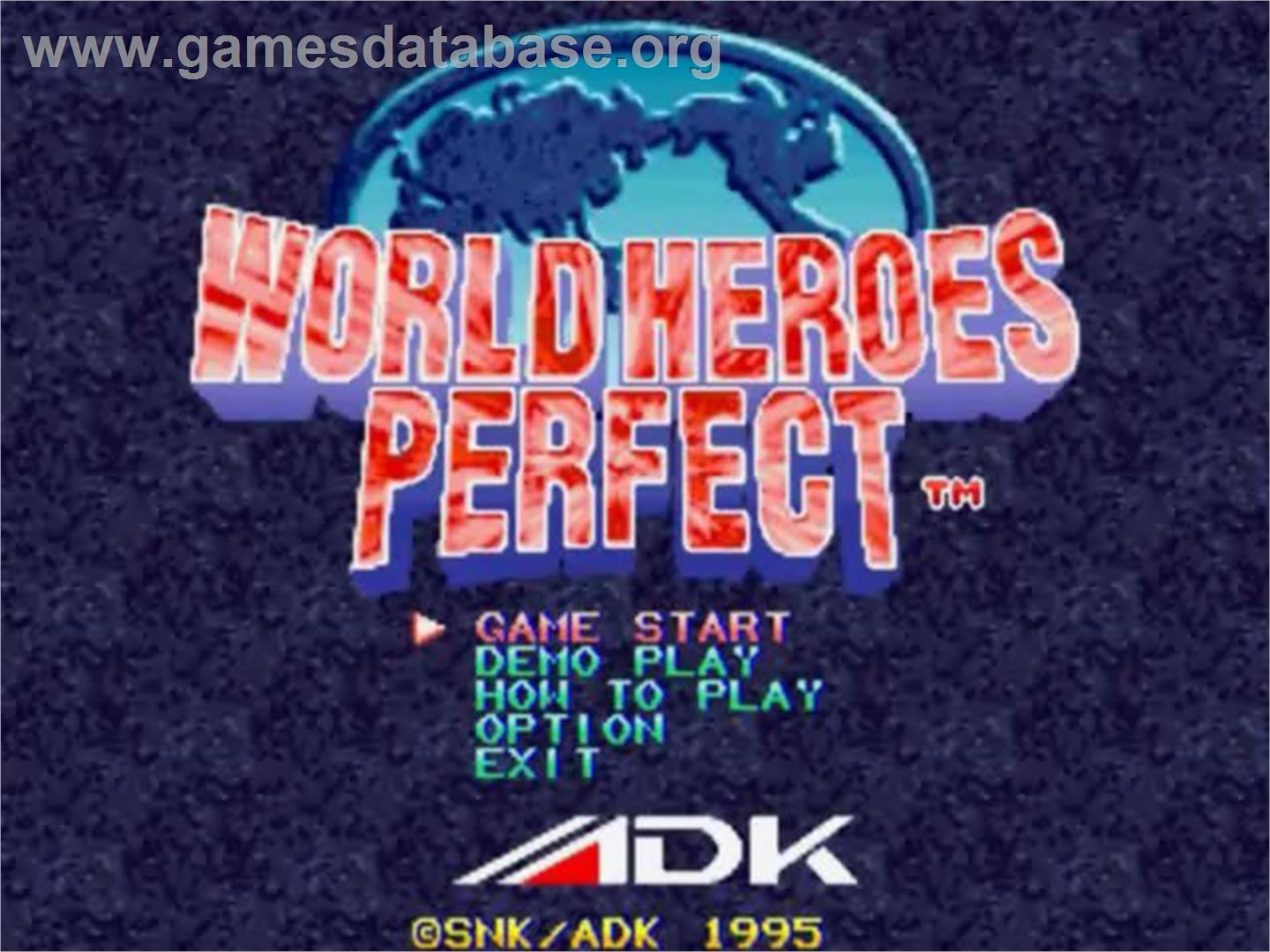 of World Heroes Perfect: The Ultimate Heroes on the SNK Neo-Geo CD