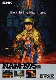 Advert for NAM-1975 on the SNK Neo-Geo CD.