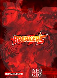 Box cover for Breakers on the SNK Neo-Geo MVS.
