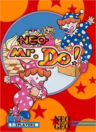 Box cover for Neo Mr. Do! on the SNK Neo-Geo MVS.