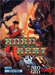 Box cover for Robo Army on the SNK Neo-Geo MVS.