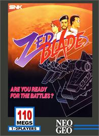 Box cover for Zed Blade on the SNK Neo-Geo MVS.