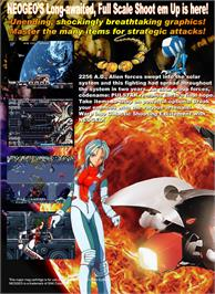 Box back cover for Pulstar on the SNK Neo-Geo MVS.