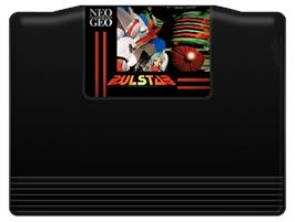 Cartridge artwork for Pulstar on the SNK Neo-Geo MVS.