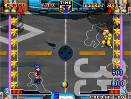 In game image of Bang Bead on the SNK Neo-Geo MVS.