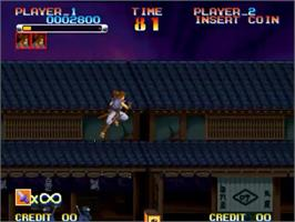 In game image of Ganryu on the SNK Neo-Geo MVS.