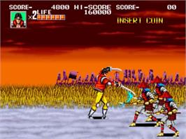 In game image of Sengoku on the SNK Neo-Geo MVS.