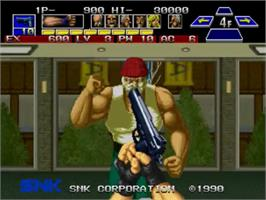 In game image of The Super Spy on the SNK Neo-Geo MVS.
