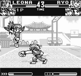 In game image of King of Fighters R-1 on the SNK Neo-Geo Pocket.
