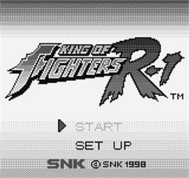Title screen of King of Fighters R-1 on the SNK Neo-Geo Pocket.