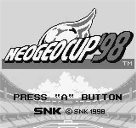 Title screen of Neo-Geo Cup '98 - The Road to the Victory on the SNK Neo-Geo Pocket.