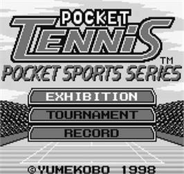 Title screen of Pocket Tennis!: Pocket Sports Series on the SNK Neo-Geo Pocket.