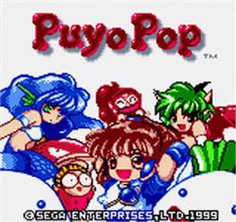 Title screen of Puyo Puyo 2 on the SNK Neo-Geo Pocket Color.