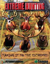 Advert for Extreme Hunting on the Sammy Atomiswave.