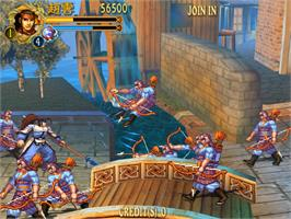 In game image of Knights of Valour - The Seven Spirits on the Sammy Atomiswave.
