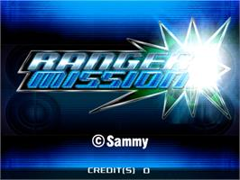 Title screen of Ranger Mission on the Sammy Atomiswave.