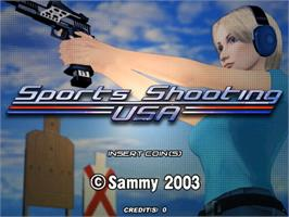 Title screen of Sports Shooting USA on the Sammy Atomiswave.