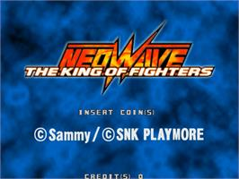 Title screen of The King of Fighters Neowave on the Sammy Atomiswave.
