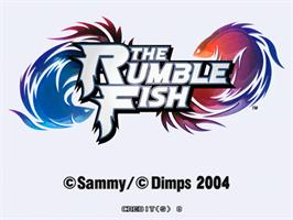 Title screen of The Rumble Fish on the Sammy Atomiswave.
