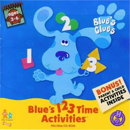 Box cover for Blue's Clues: Blue's 123 Time Activities on the ScummVM.