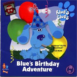 Box cover for Blue's Clues: Blue's Birthday Adventure on the ScummVM.