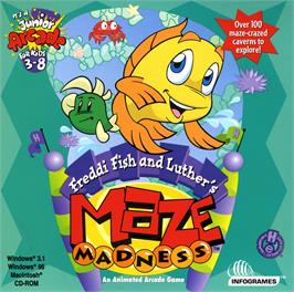 Box cover for Freddi Fish and Luther's Maze Madness on the ScummVM.