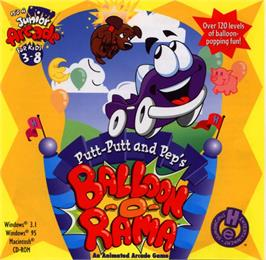 Box cover for Putt-Putt and Pep's Balloon-o-Rama on the ScummVM.