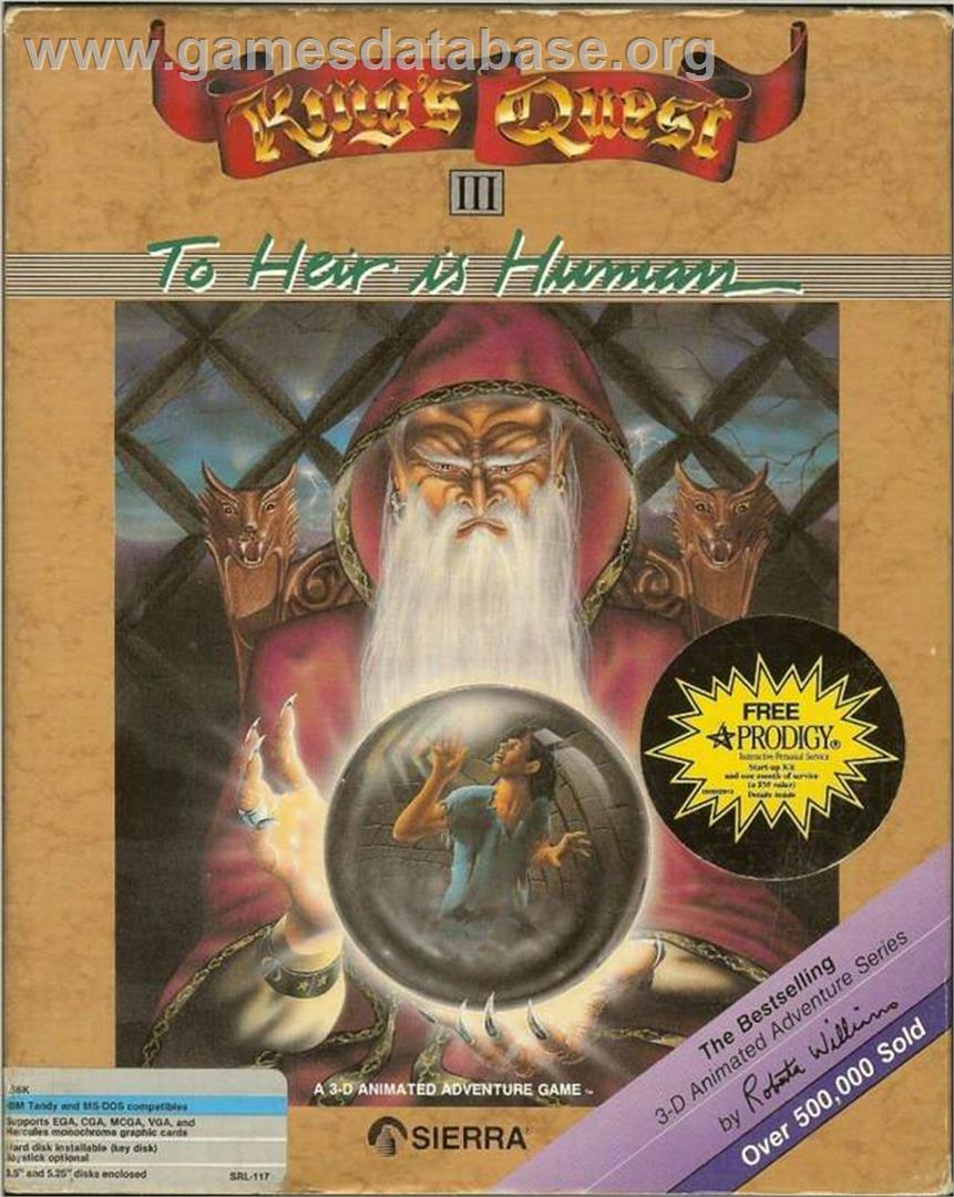 Box cover for King's Quest III: To Heir is Human on the ScummVM.