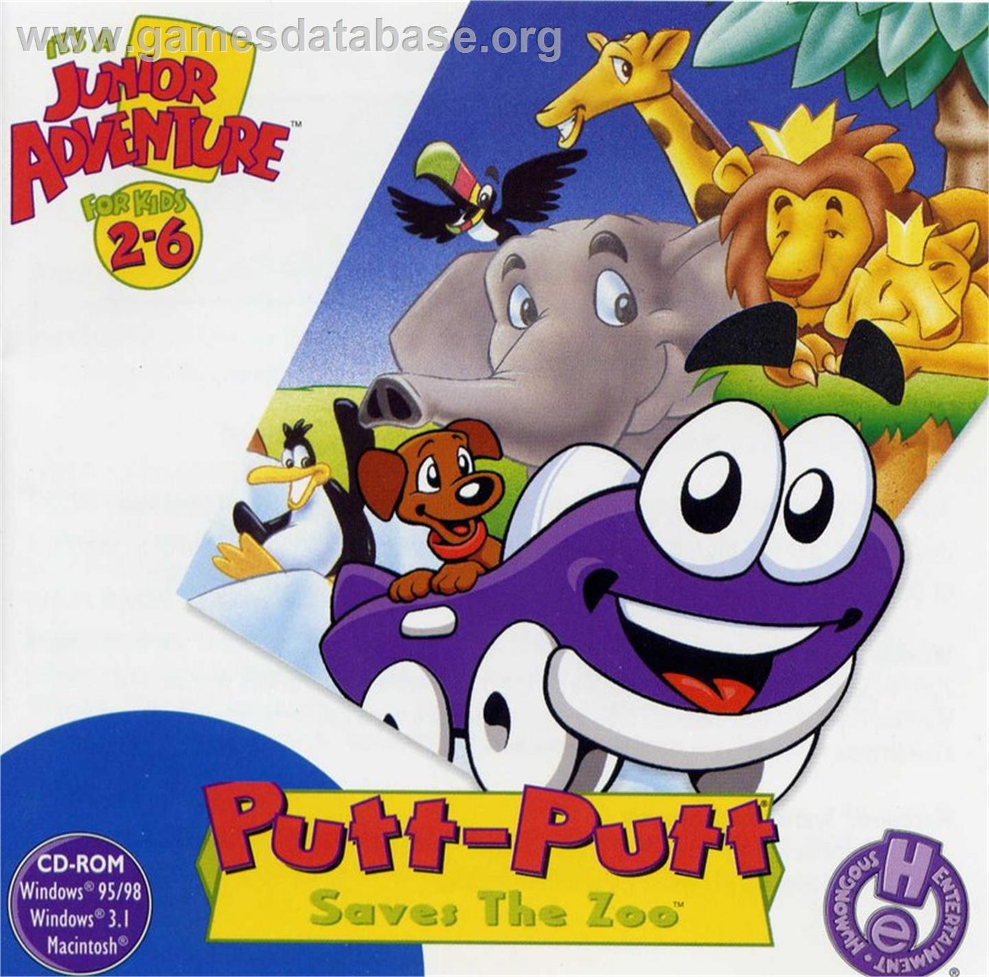 Putt-Putt Saves the Zoo - ScummVM - Artwork - Box