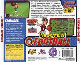 Box back cover for Backyard Football on the ScummVM.