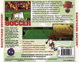 Box back cover for Backyard Soccer on the ScummVM.