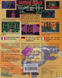 Box back cover for Bargon Attack on the ScummVM.