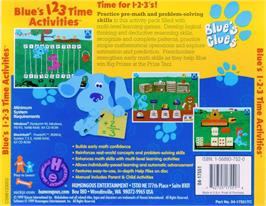 Box back cover for Blue's Clues: Blue's 123 Time Activities on the ScummVM.